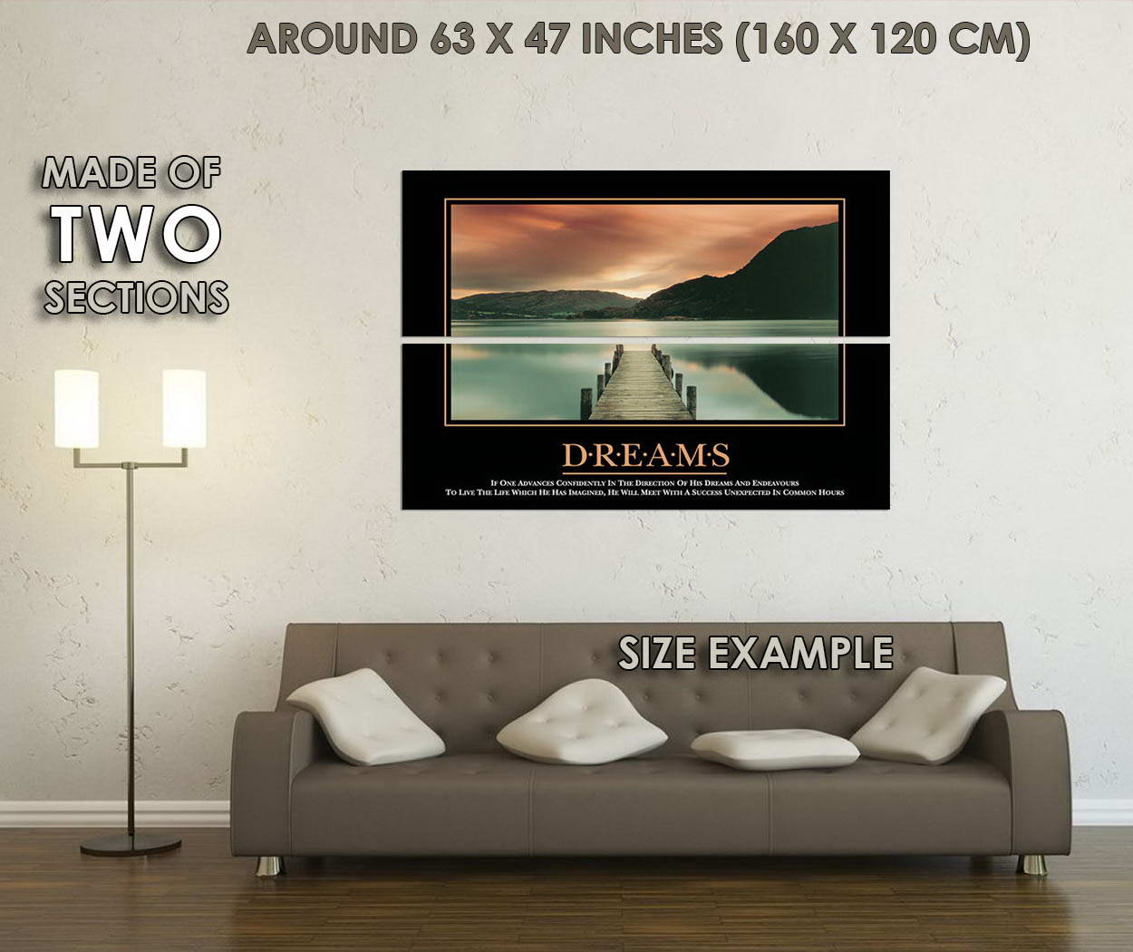 10580-DREAM-Motivational-Quote-Office-Room-LAMINATED-POSTER-CA thumbnail 6