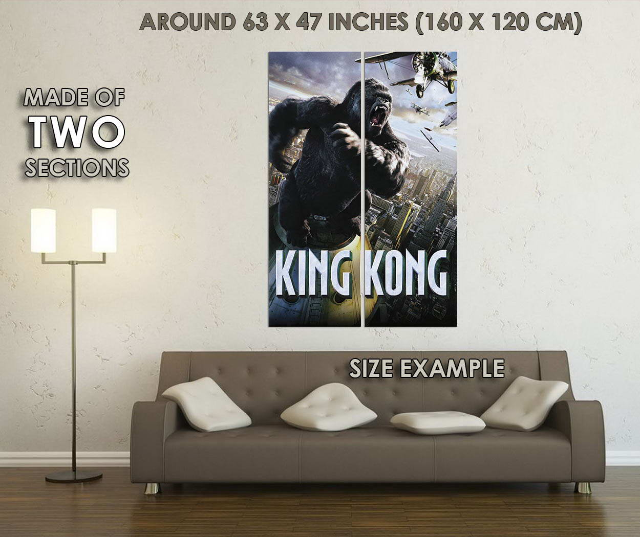 10592-The-King-Kong-Movie-LAMINATED-POSTER-CA thumbnail 6