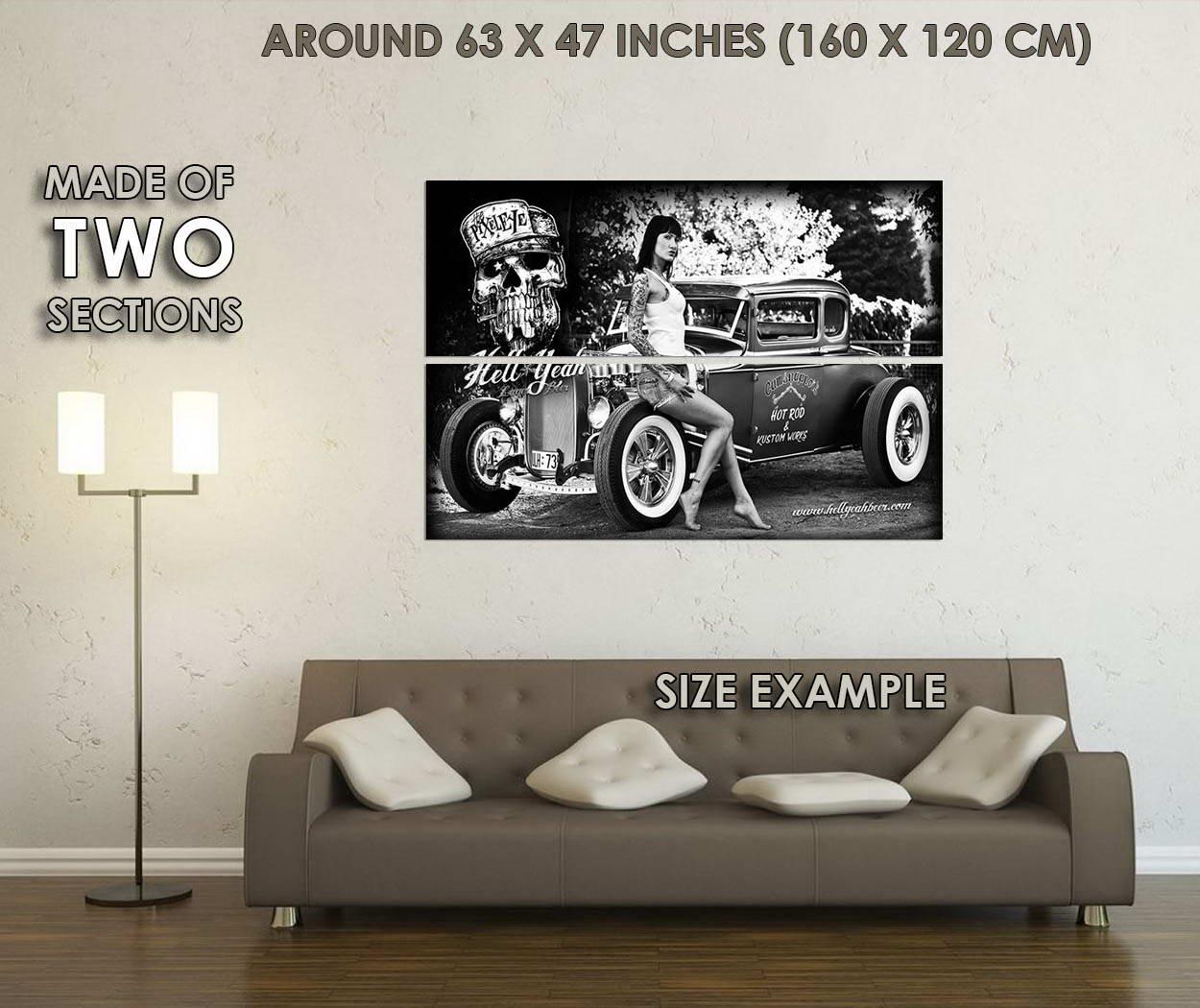 10614-Hot-Rod-Cars-And-Model-Girl-Nice-LAMINATED-POSTER-CA thumbnail 6