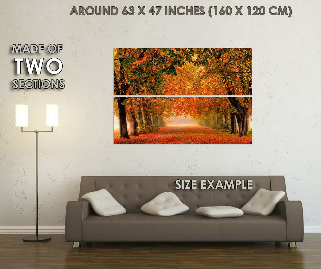 10628-Autumn-Fallen-Leaves-Forest-Path-Nature-Trees-LAMINATED-POSTER-CA thumbnail 6