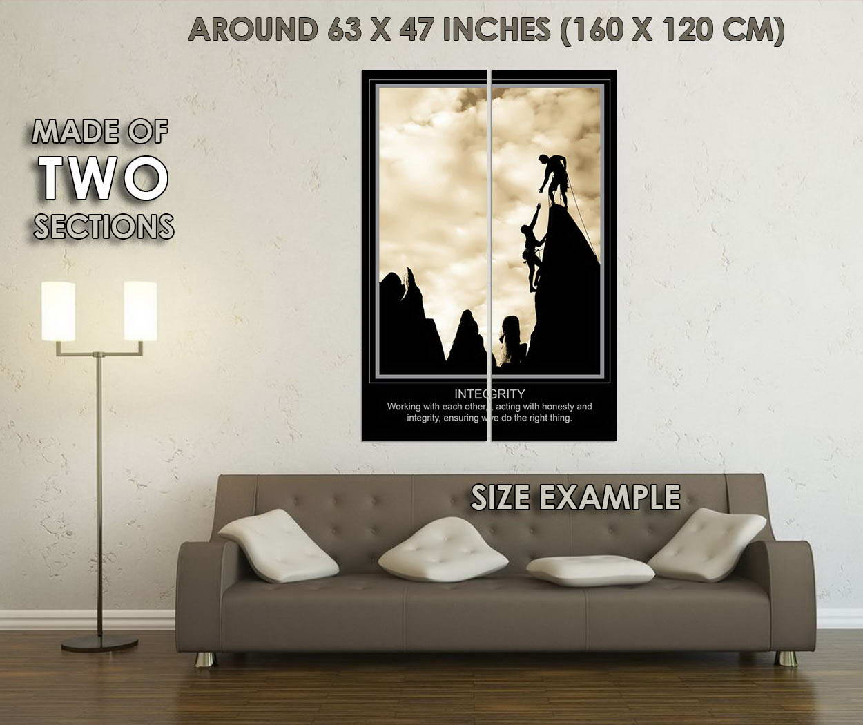 10636-INTEGRITY-Motivational-Quote-Mountain-Climber-LAMINATED-POSTER-CA thumbnail 6