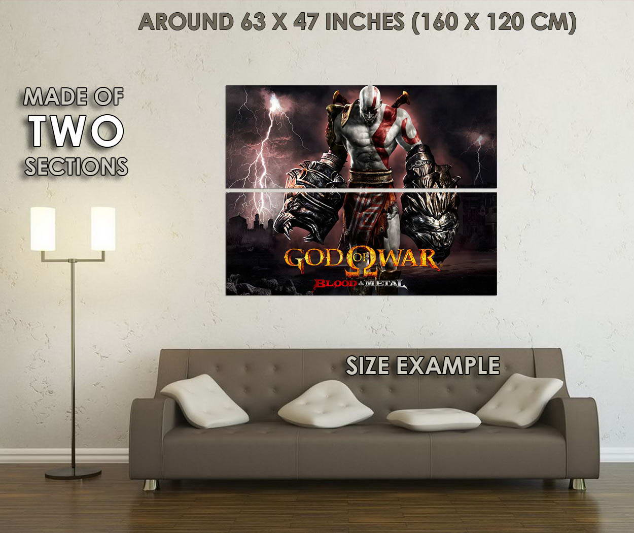 10679-Kratos-God-of-War-4-Game-LAMINATED-POSTER-CA thumbnail 6
