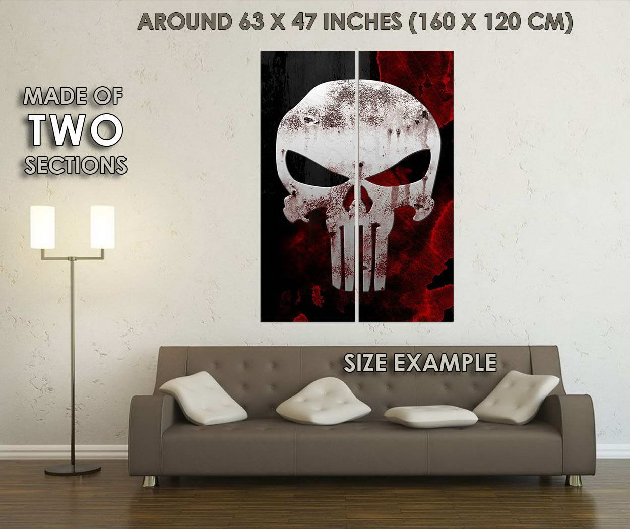 10695-The-Punisher-Skull-Superhero-Movie-LAMINATED-POSTER-CA thumbnail 6