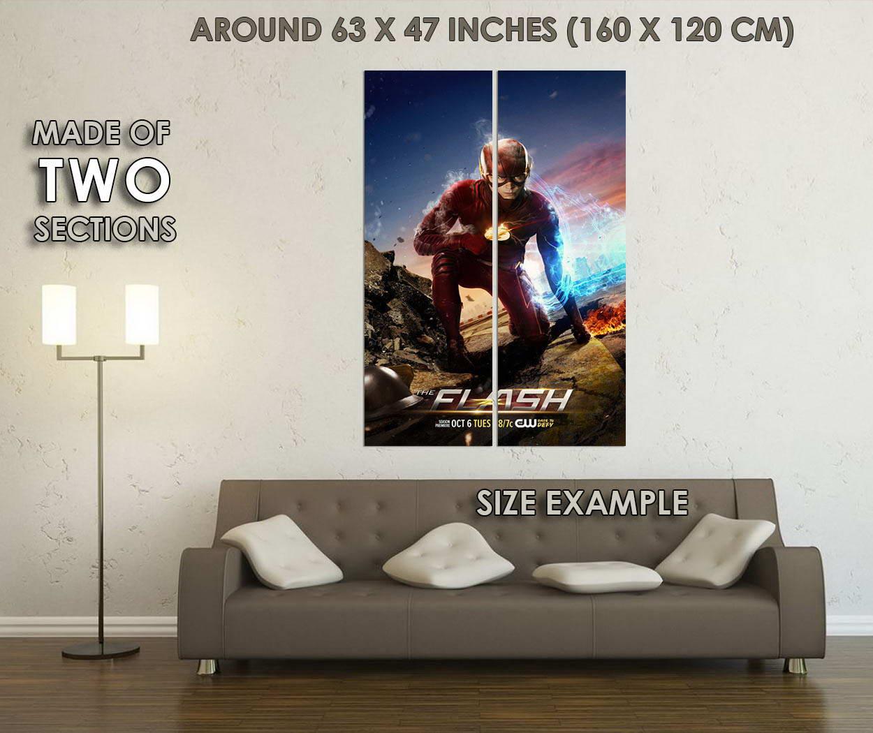 10718-The-Flash-Season-2-TV-Series-Art-LAMINATED-POSTER-CA thumbnail 6