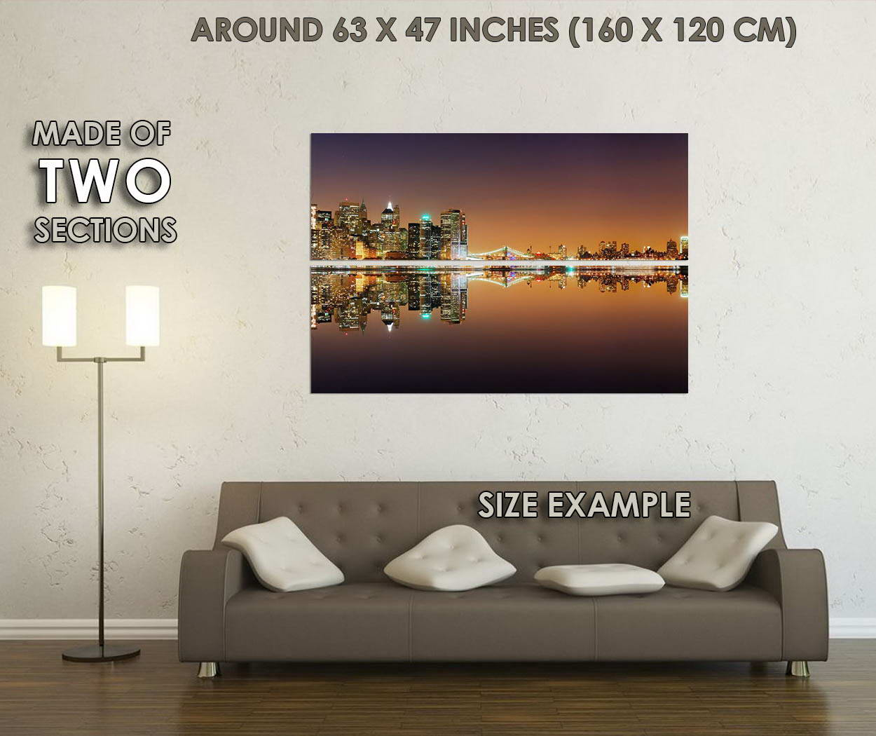 10724-New-York-City-Night-River-Reflection-Skyscrapers-LAMINATED-POSTER-CA thumbnail 6