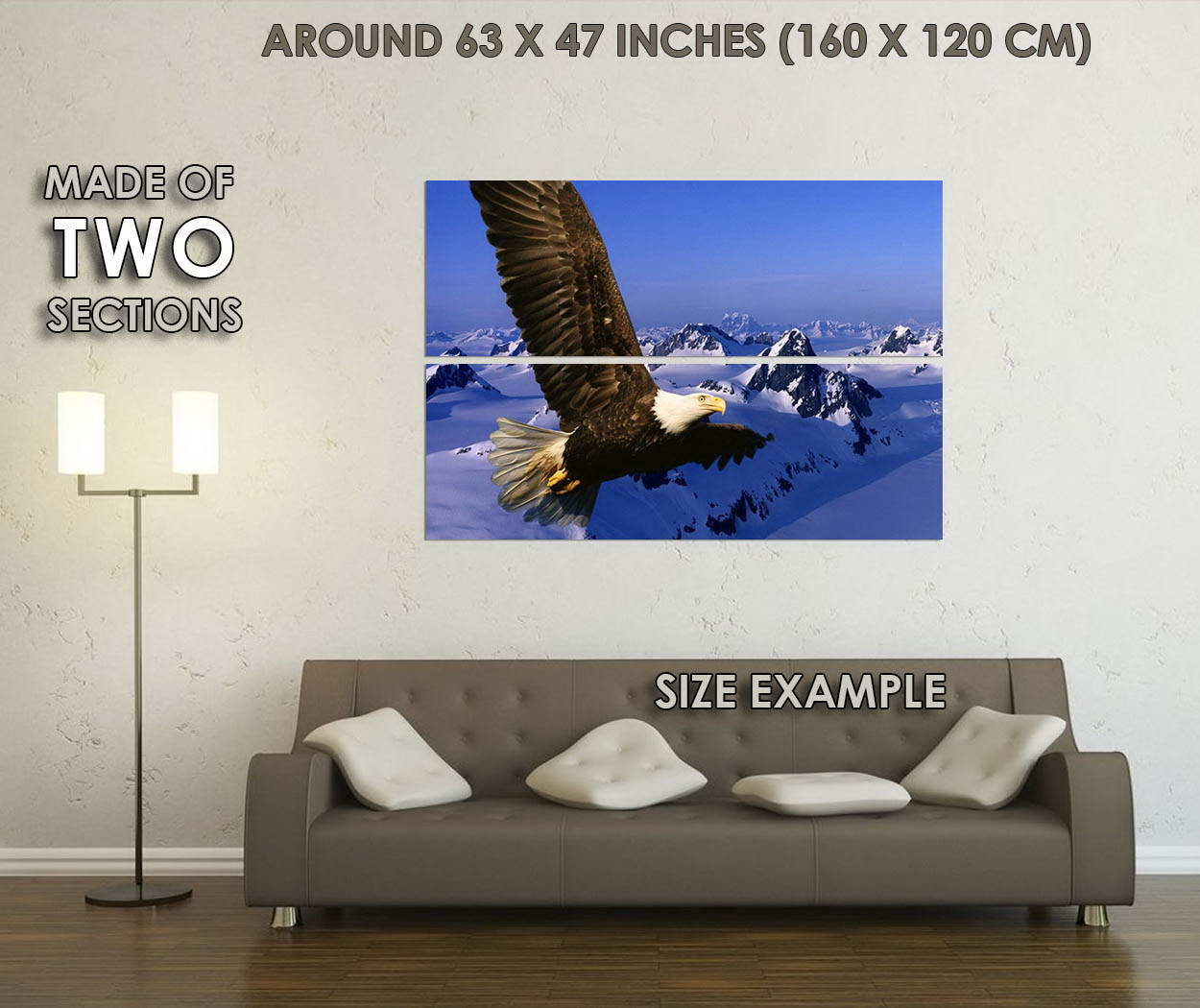 10736-Eagle-and-Flag-Animals-Children-Room-LAMINATED-POSTER-CA thumbnail 6