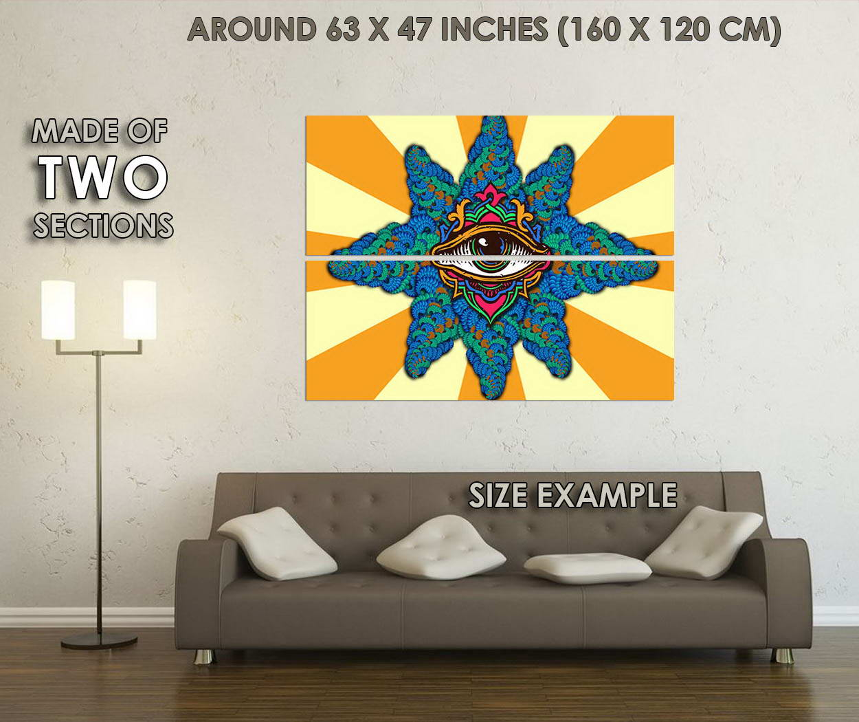 10740-Psychedelic-Trippy-Abstract-Art-LAMINATED-POSTER-CA thumbnail 6