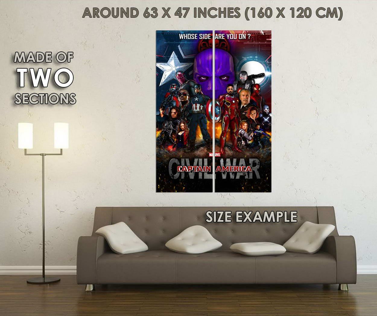 10751-Captain-America-3-Civil-War-Superhero-Movie-LAMINATED-POSTER-CA thumbnail 6