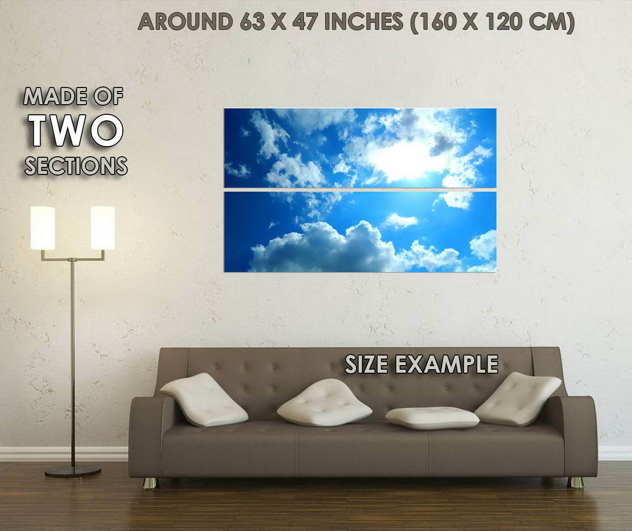 10770-Blue-Sky-and-Clouds-Nature-Modern-Home-LAMINATED-POSTER-CA thumbnail 6
