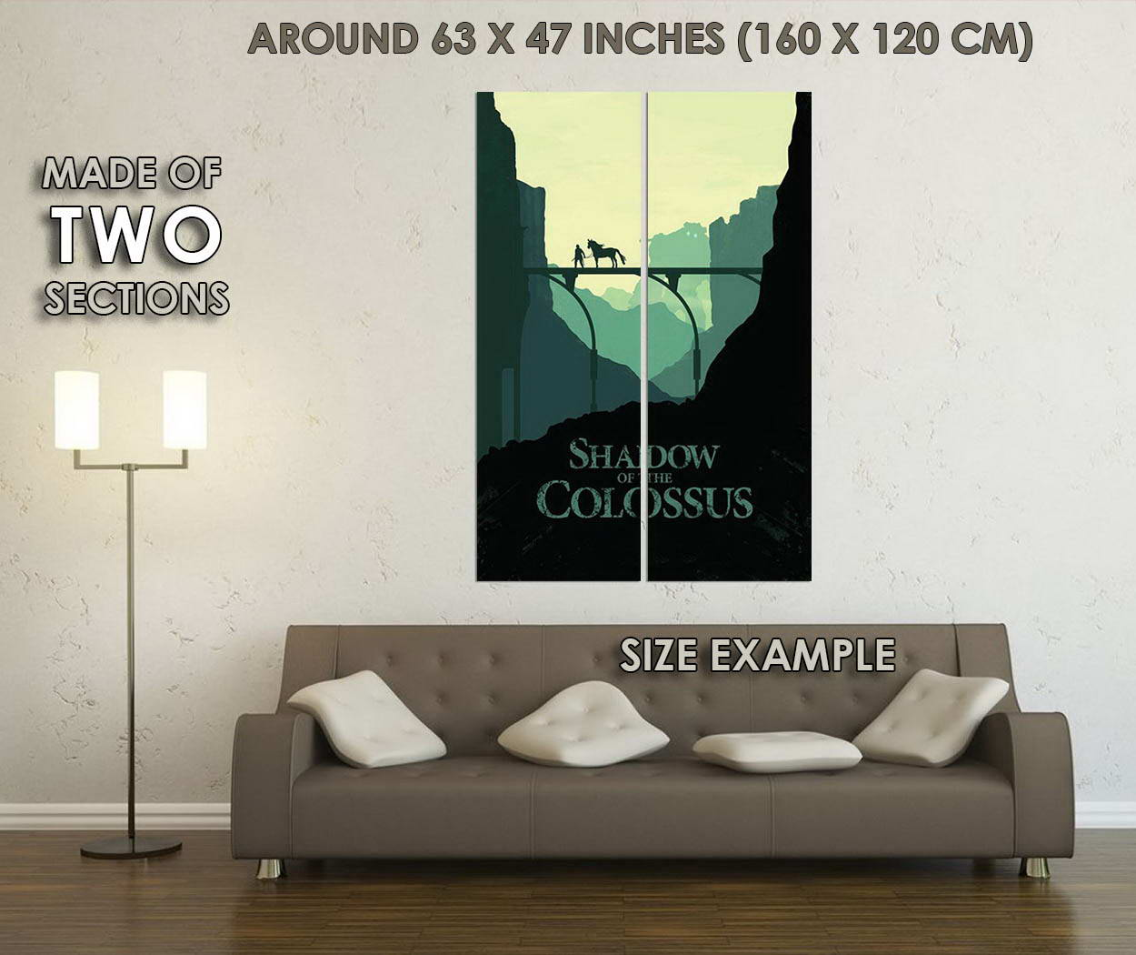 10786-Shadow-of-the-Colossus-Kolossale-Kinoversion-ICO-Art-LAMINATED-POSTER-CA thumbnail 6