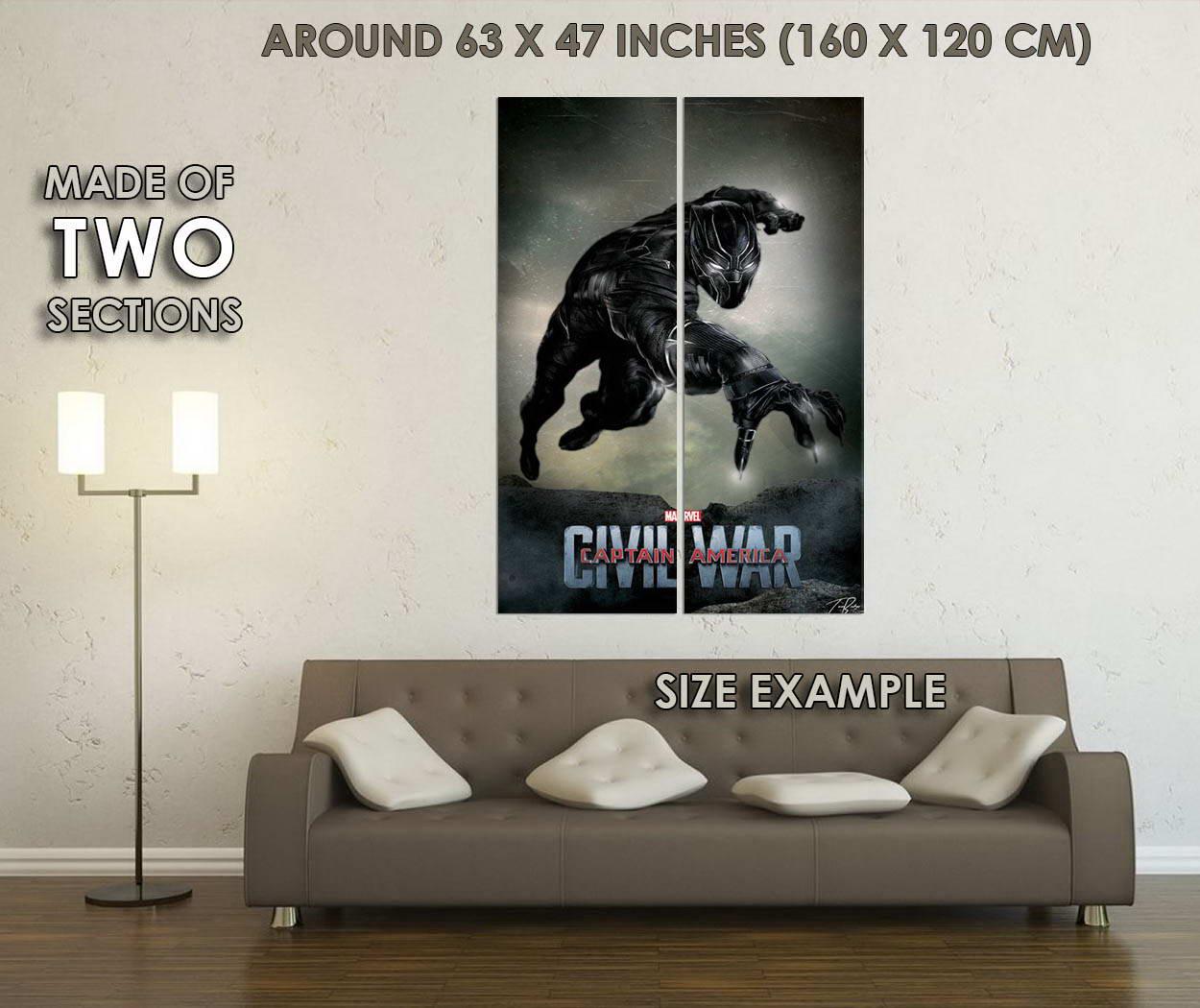 10804-Black-Panther-Captain-America-Civil-War-Superhero-Movie-GLOSSY-POSTER-CA thumbnail 6