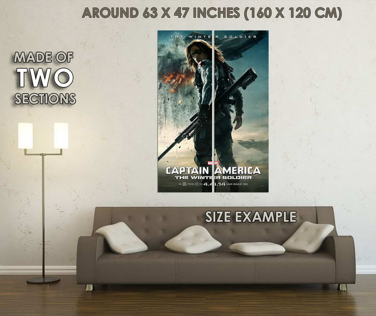 10807-Captain-America-2-The-Winter-Solider-LAMINATED-POSTER-CA thumbnail 6
