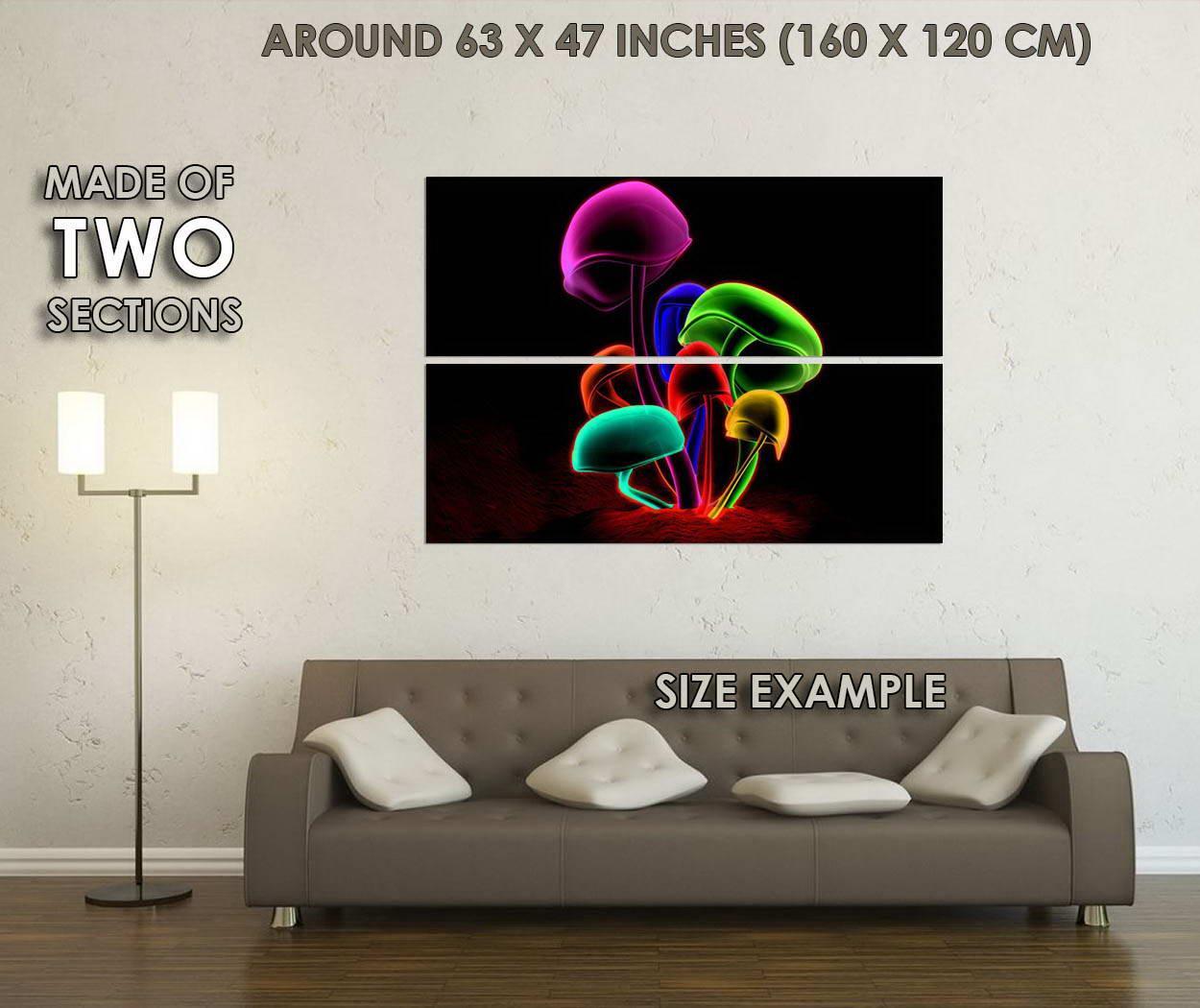 10809-Psychedelic-Trippy-Magic-Mushroom-Abstract-Art-LAMINATED-POSTER-CA thumbnail 6