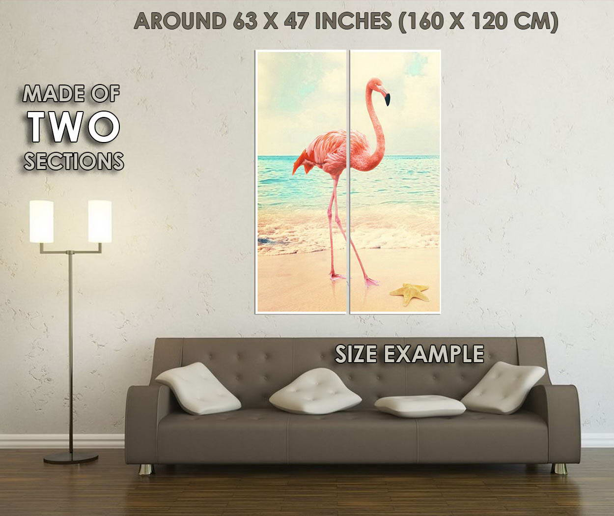 10817-Flamingo-at-Sea-Beach-Landscape-Animal-Birds-LAMINATED-POSTER-CA thumbnail 6