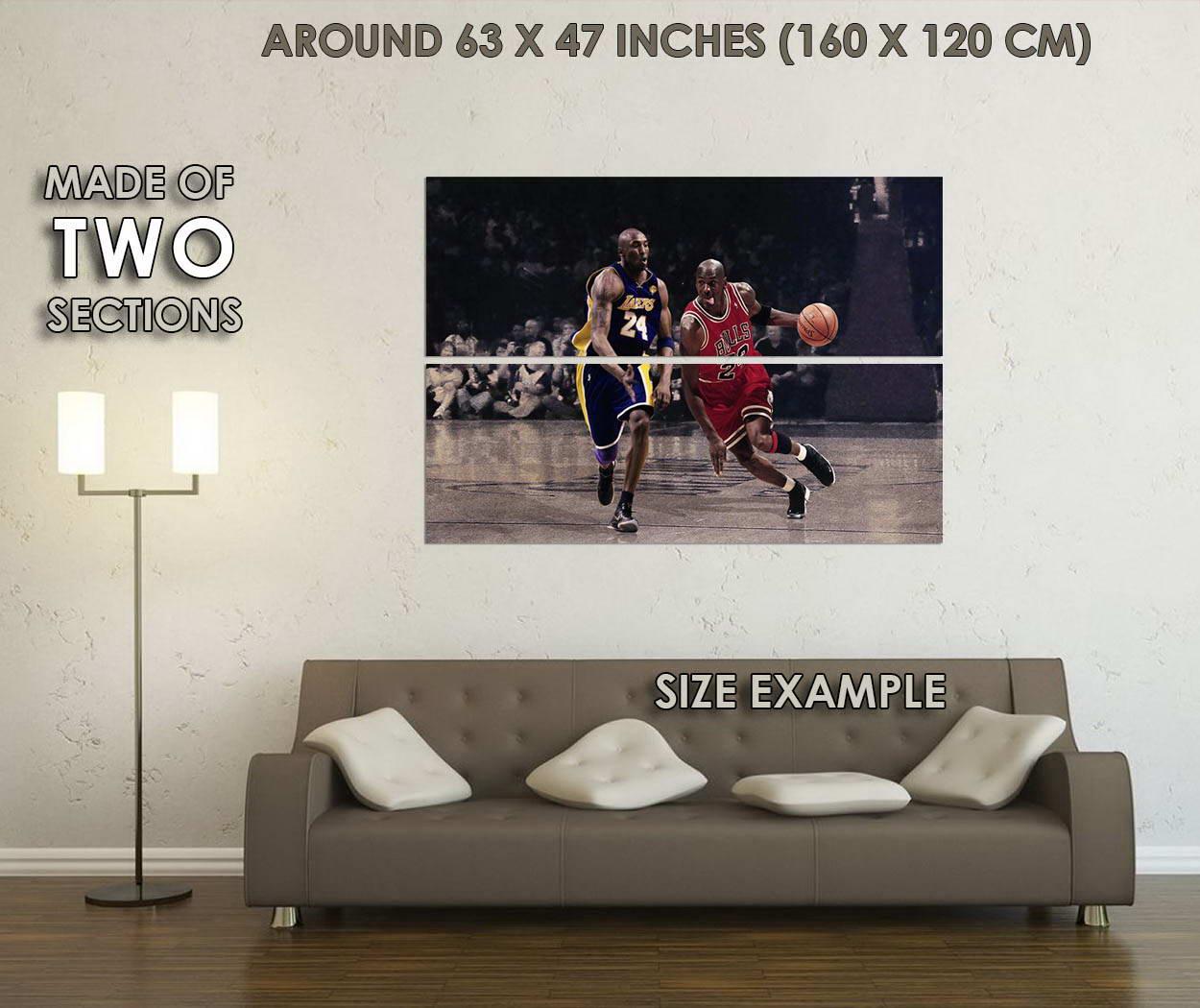 10818-Michael-Jordan-vs-Kobe-Basketball-MVP-Art-LAMINATED-POSTER-CA thumbnail 6