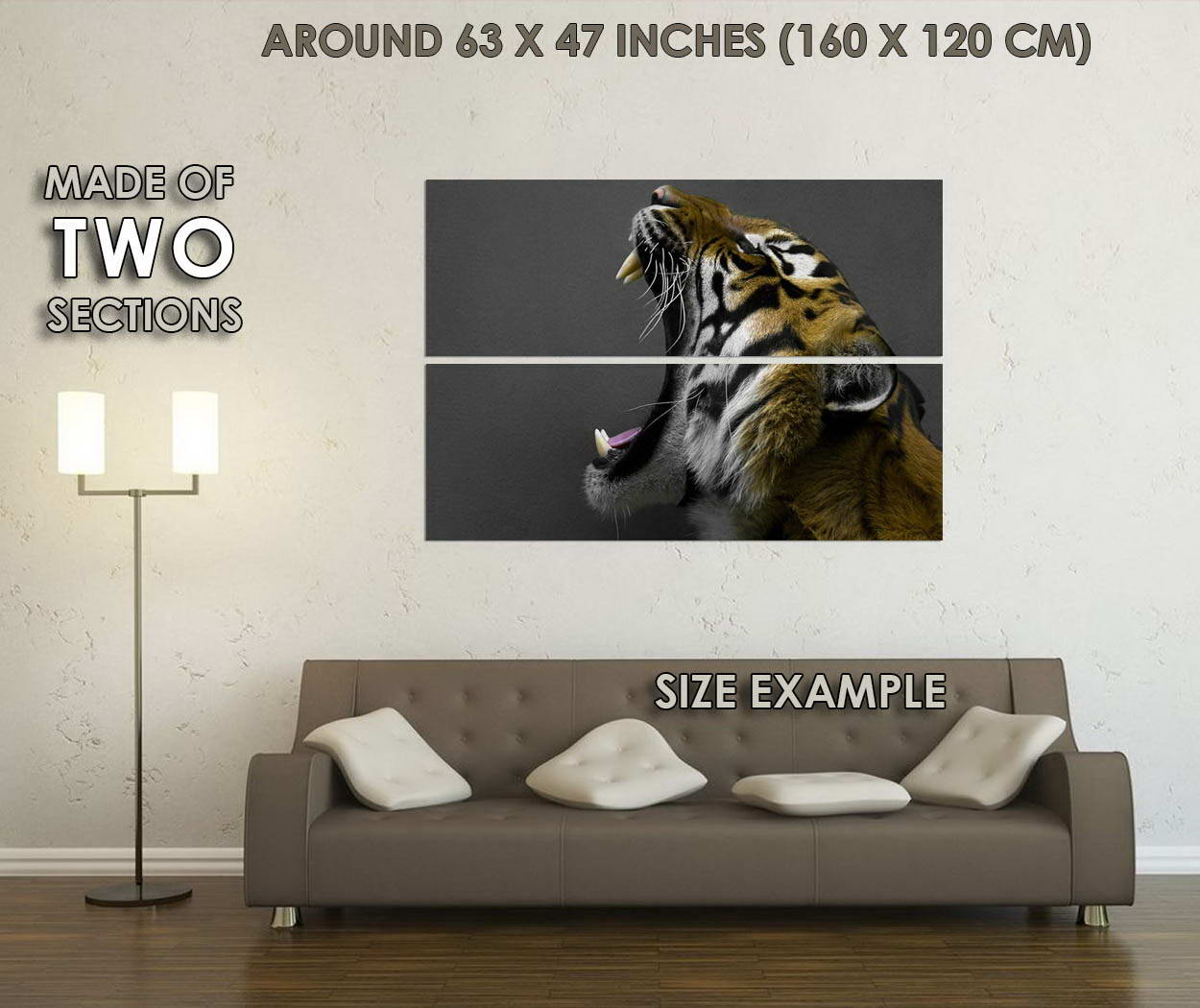 11914 Angry Tiger Shout Africa Wild Animals Animals Animals Poster AFFICHE 81e207