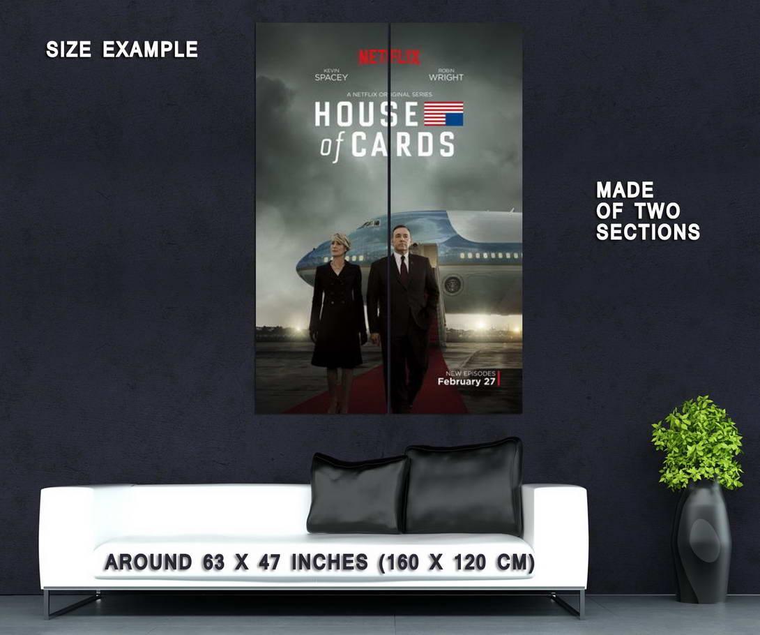 63886 House Of Cards Frank Underwood Season 1 2 3 Wall Print