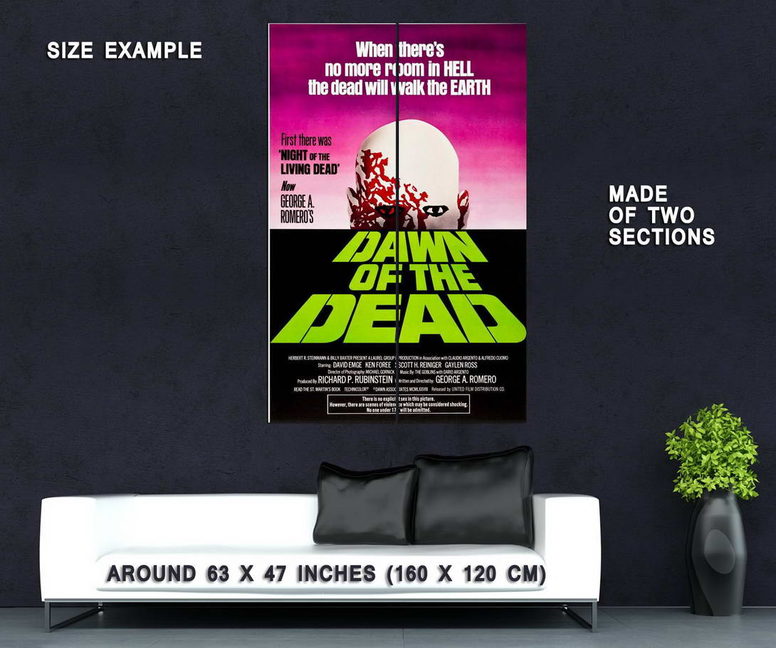 65172-DAWN-OF-THE-DEAD-George-Romero-Zombies-Wall-Print-Poster-Affiche