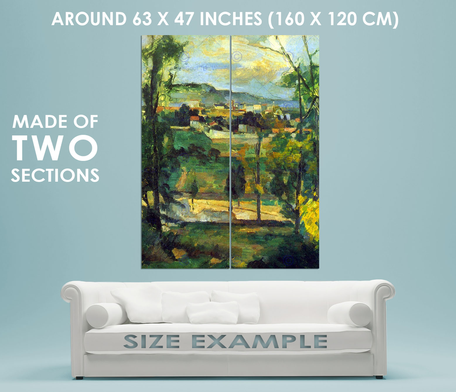86068-PAUL-CEZANNE-VILLAGE-BEHIND-TREES-ILE-DE-OLD-Decor-WALL-PRINT-POSTER-FR miniature 6
