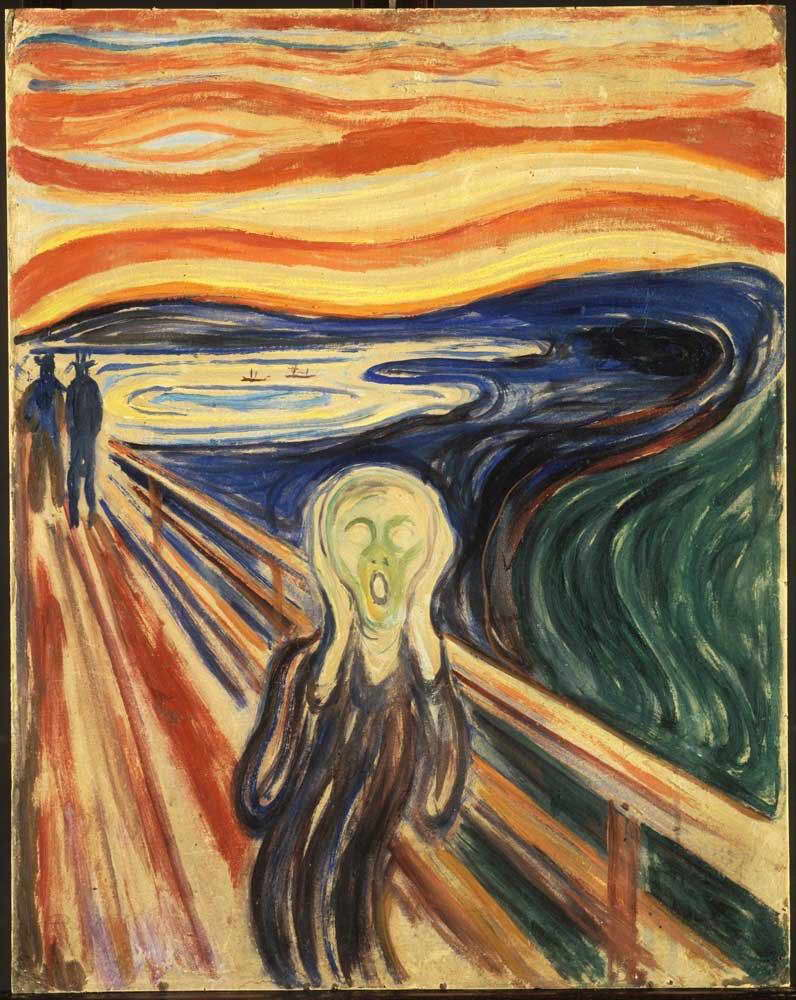 00422 Edvard Munch  THE SCREAM  Image Wall Print POSTER CA