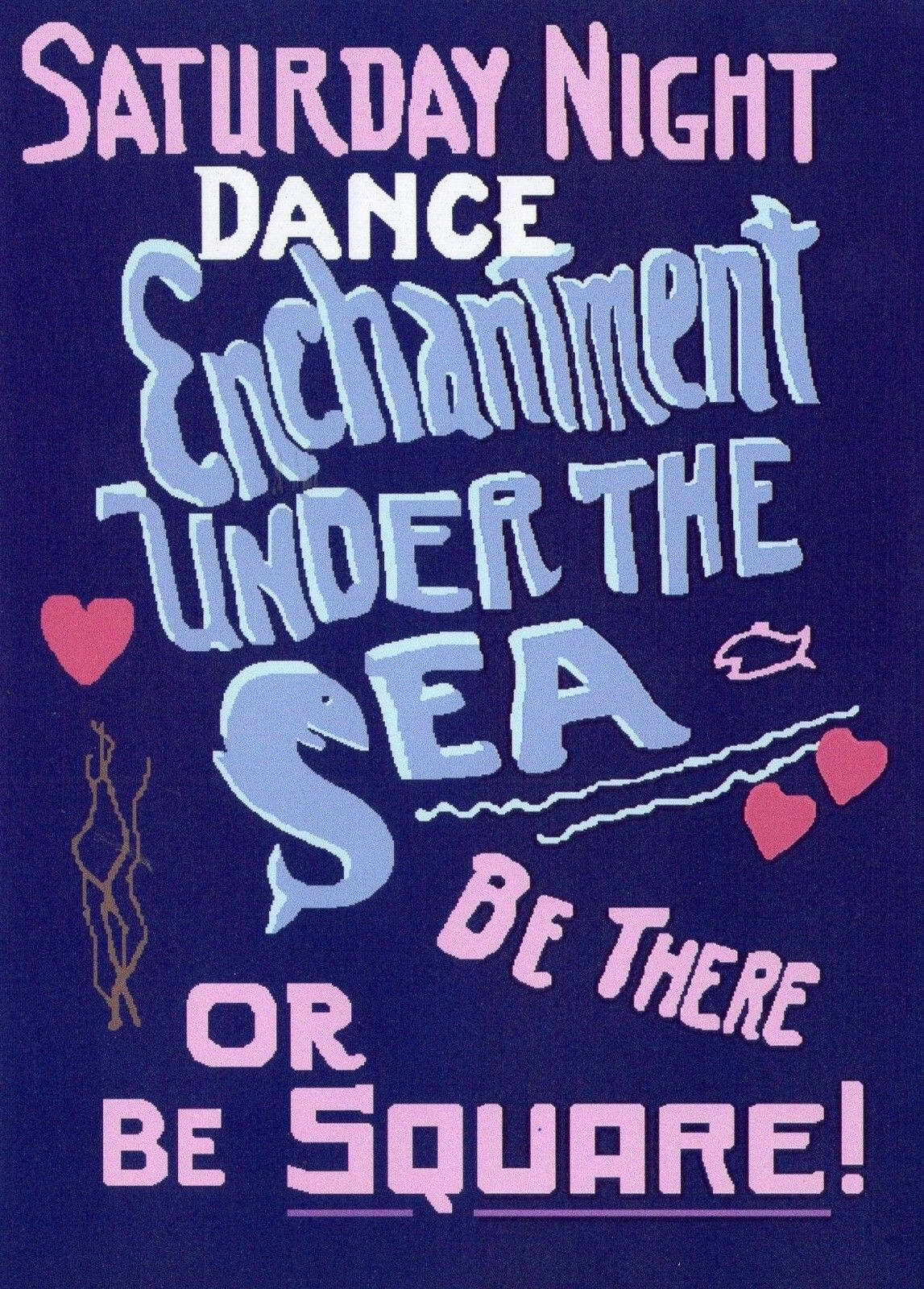 00487 Back To The Future Movie, Enchantment Under The Sea Dance Print Poster