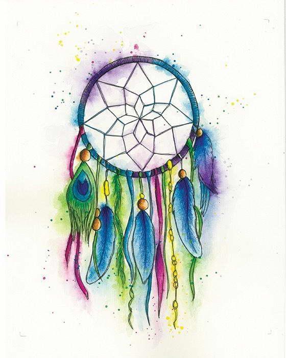40 DREAM CATCHER WATERCOLOUR ART IMAGE Poster Print EBay Beauteous Water Color Dream Catcher