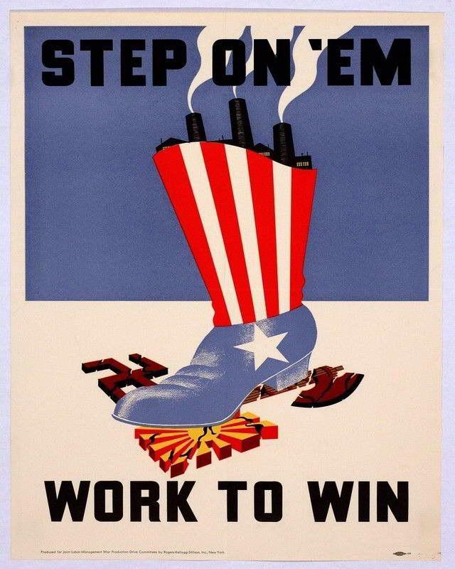 06106 WWII STEP ON EM PROPOGANDA WAR ART Wall Print POSTER CA