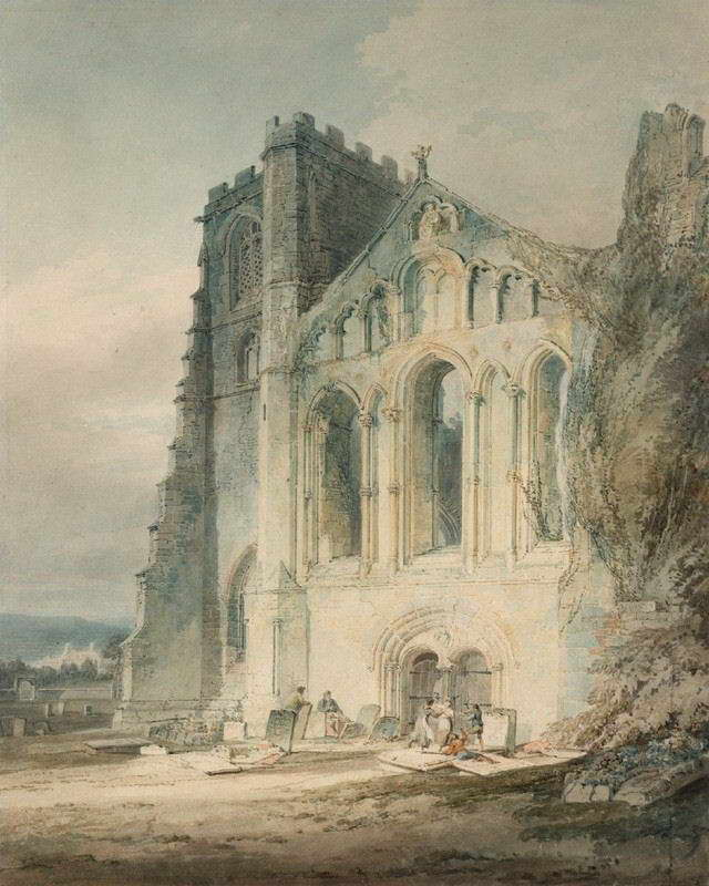 06204 J M W TURNER LLANDAFF CATHEDRAL THE WEST FRONT FINE ART Print POSTER CA