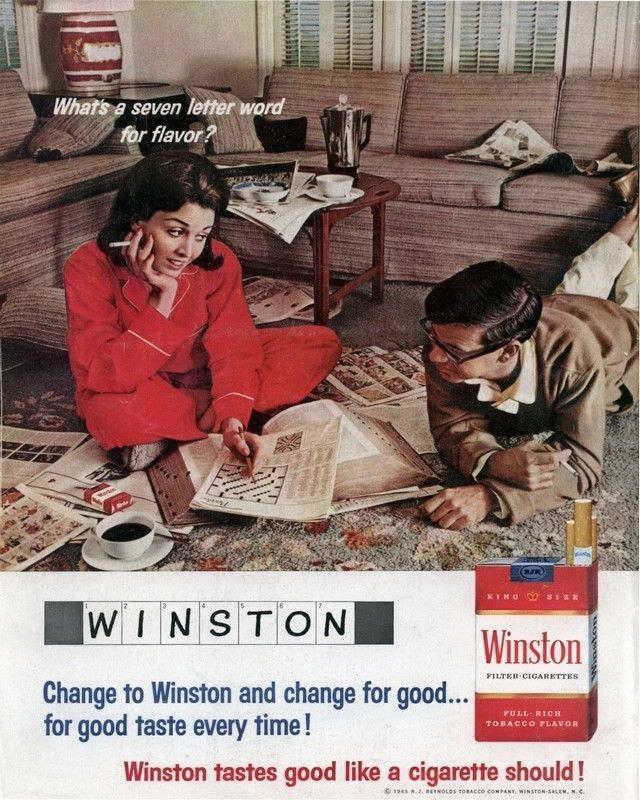 06501 VINTAGE WINSTON CROSSWORD CIGARETTE SMOKING AD ART Wall Print POSTER CA