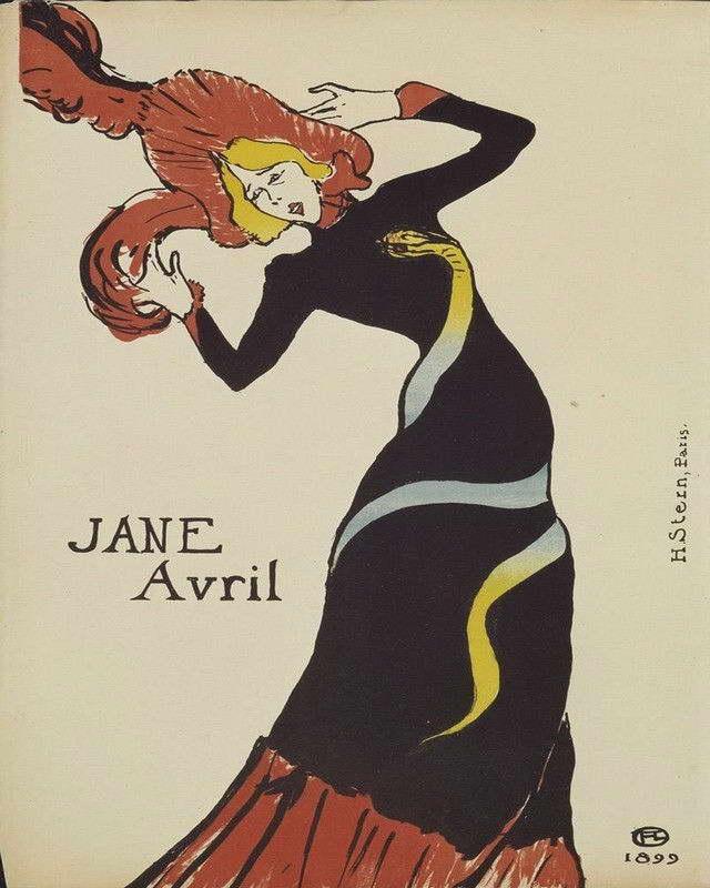 06594 TOULOUSE LAUTREC JANE AVRIL Wall Print POSTER AU