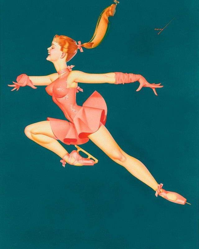 George Petty Pin Up Girls: 06853 GEORGE PETTY PIN-UP GIRL ART PRINT