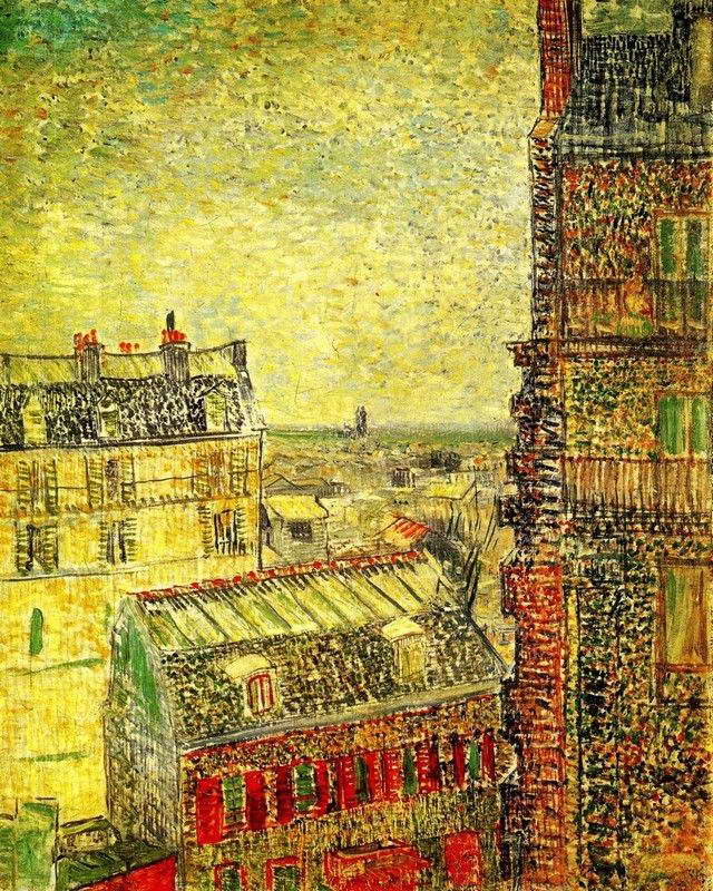 07052 VAN GOGH VIEW OF PARIS FROM VINCENT S ROOM IN THE RUE LEPIC ...
