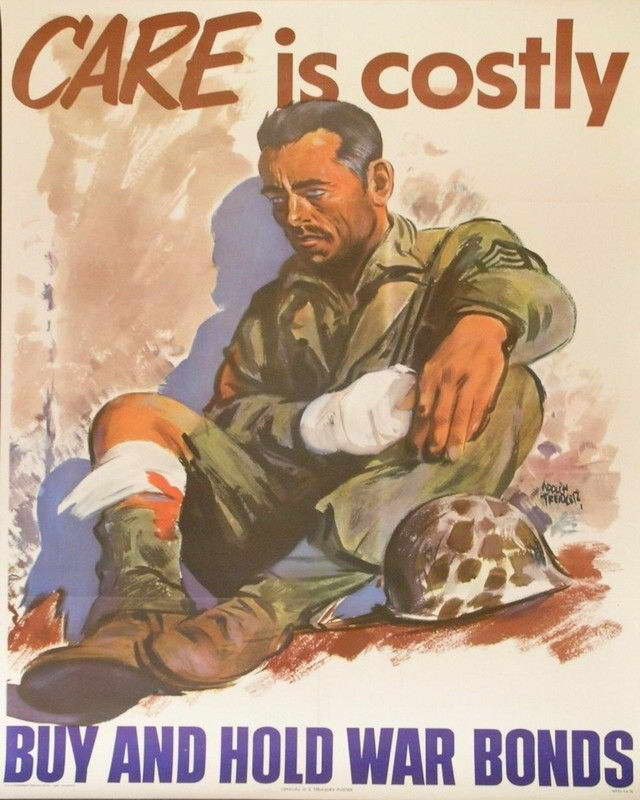07241 WWII CARE IS COSTLY WAR PROPOGANDA ART Wall Print POSTER AU