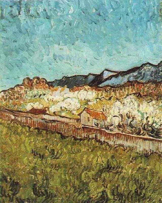 07326 VAN GOGH AT THE FOOT OF THE MOUNTAINS Wall Print POSTER AU