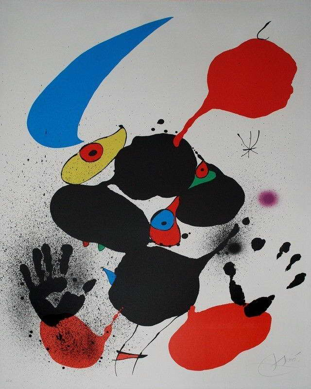 07604 JOAN MIRO FINE ART Wall Print POSTER AU