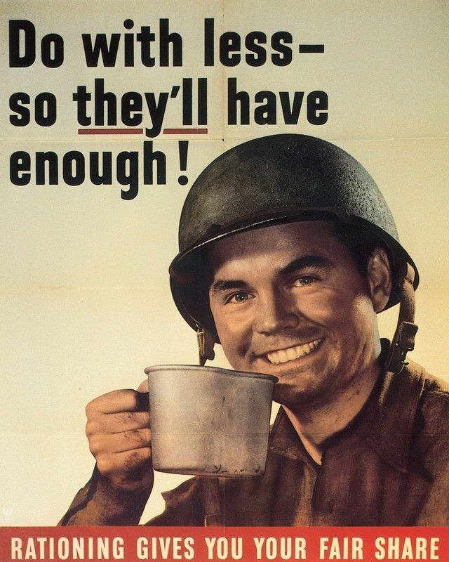 07791 WWII DO WITH LESS WAR PROPOGANDA ART Wall Print POSTER AU