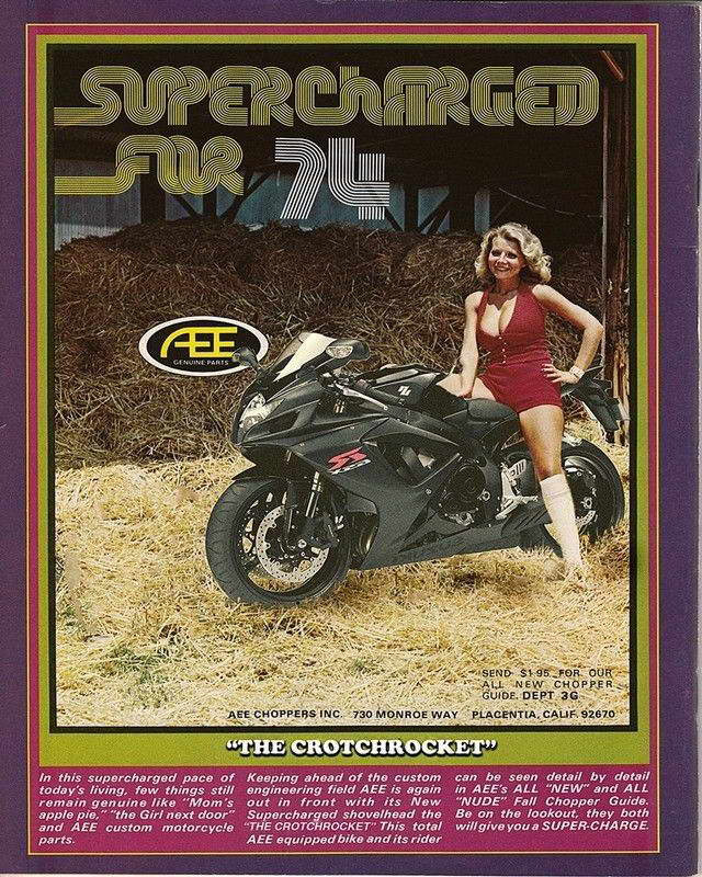 07884 1974 aee motorcycle parts ad art