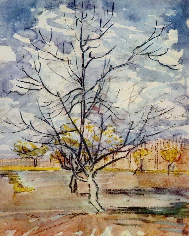 08251 VAN GOGH PINK PEACH TREES PRINT