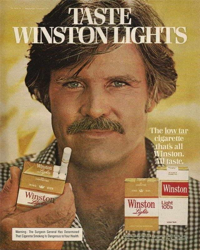 08452 VINTAGE WINSTON CIGARETTE SMOKING AD ART Wall Print POSTER CA
