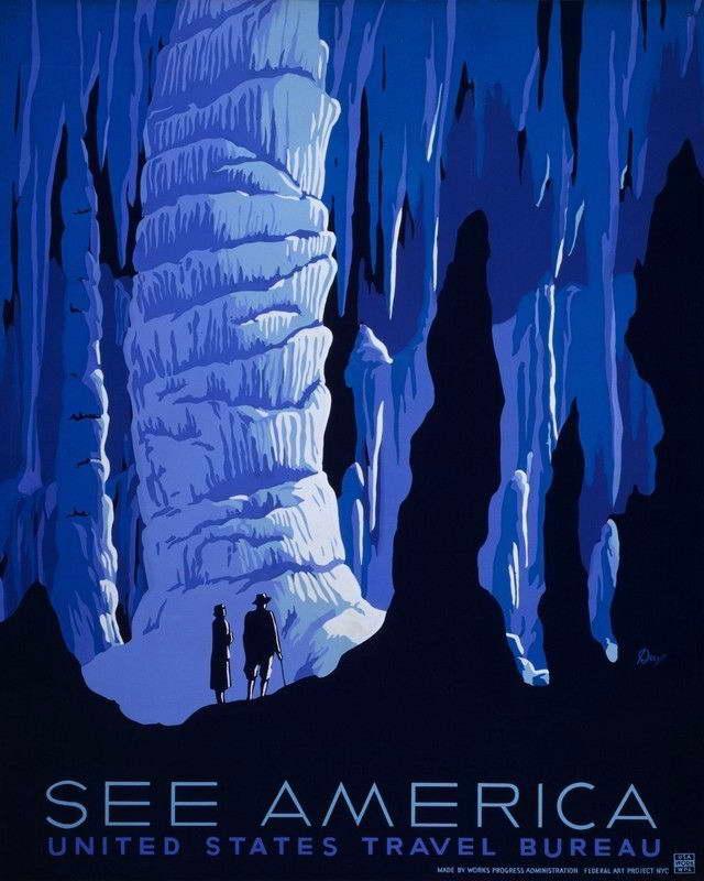 08776 VINTAGE SEE AMERICA TRAVEL ART Wall Print POSTER CA