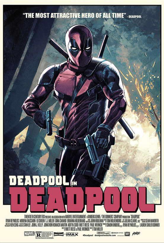 09677 Deadpool Superheroes Comic Movie Wall Print POSTER AU