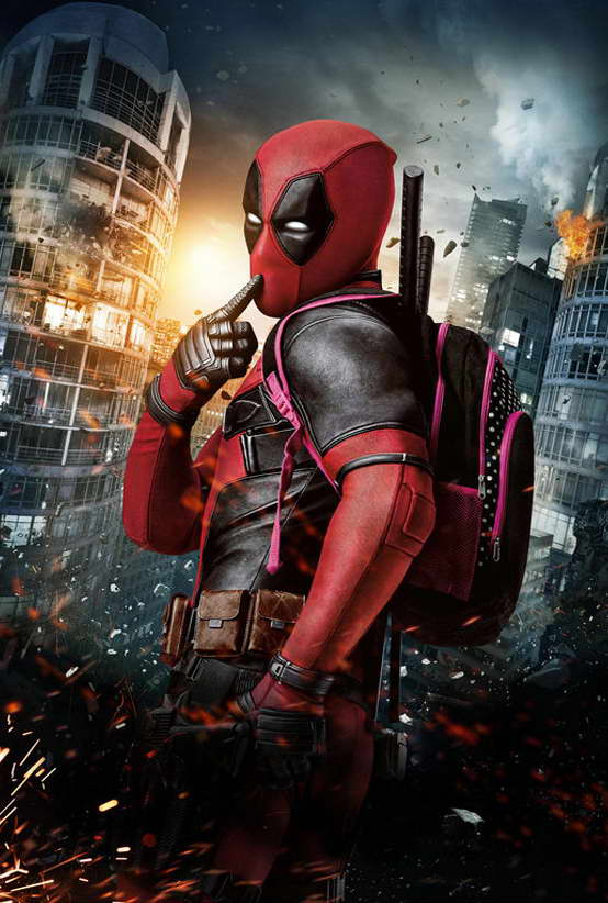 09695 Deadpool Superheroes Movie Wall Print POSTER US