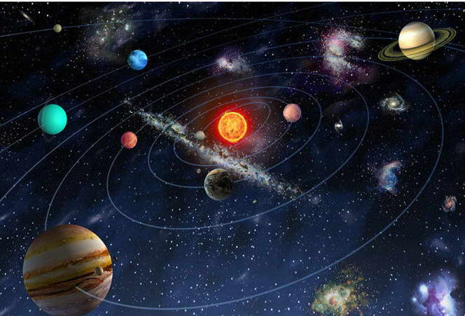09724 The Solar System Universe Galaxy Science Education Wall Print POSTER AU