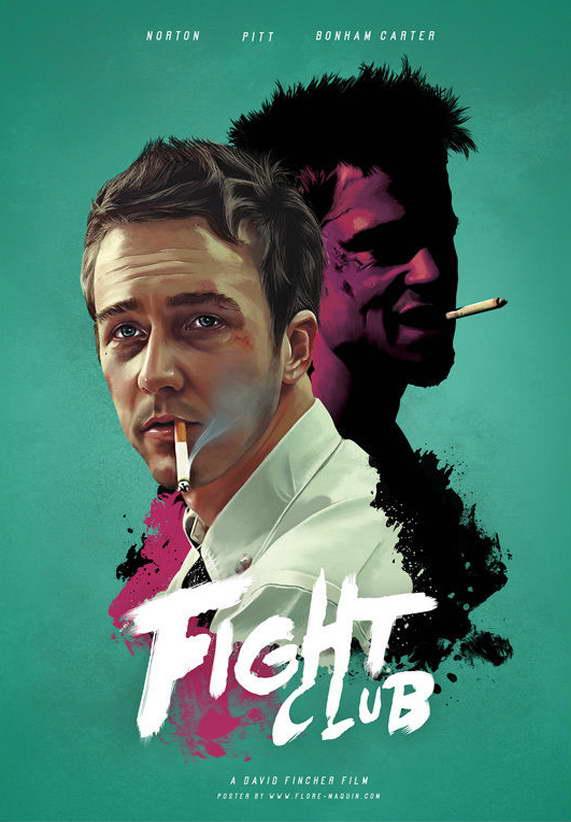 Fight Classic Club Classic Fight Film Art Fabric Poster 097f0b