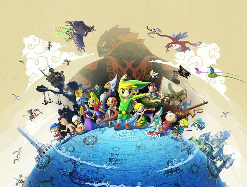 Zelda Wind Waker Karte.09795 The Legend Of Zelda The Wind Waker Game Poster Print Ebay
