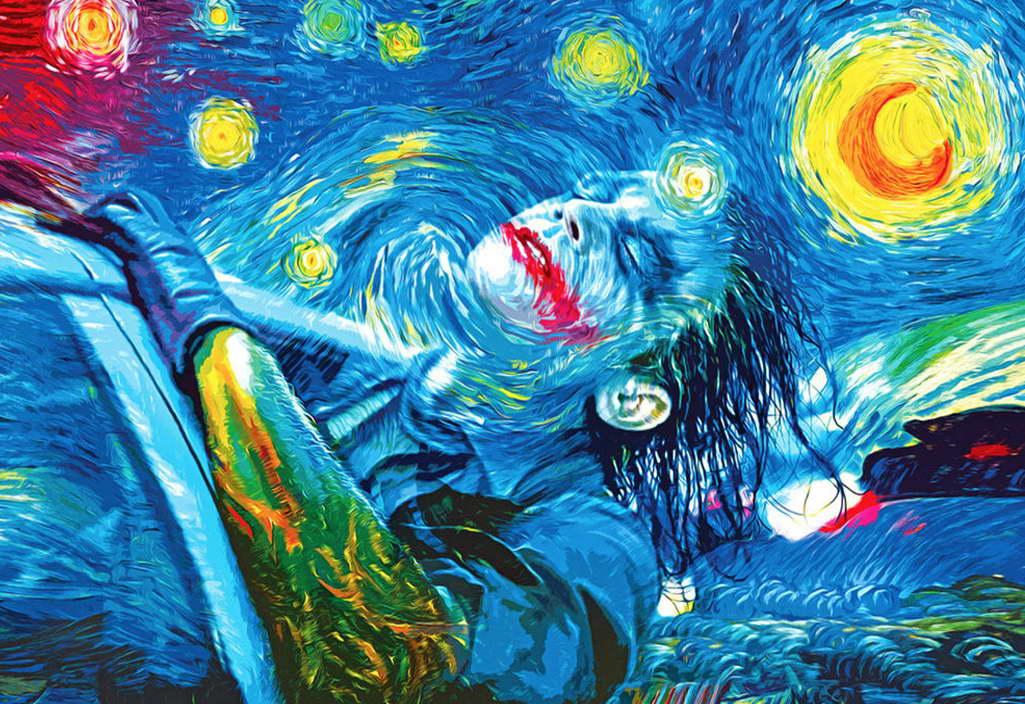 09847 joker psychedelic trippy art poster print starry night ebay