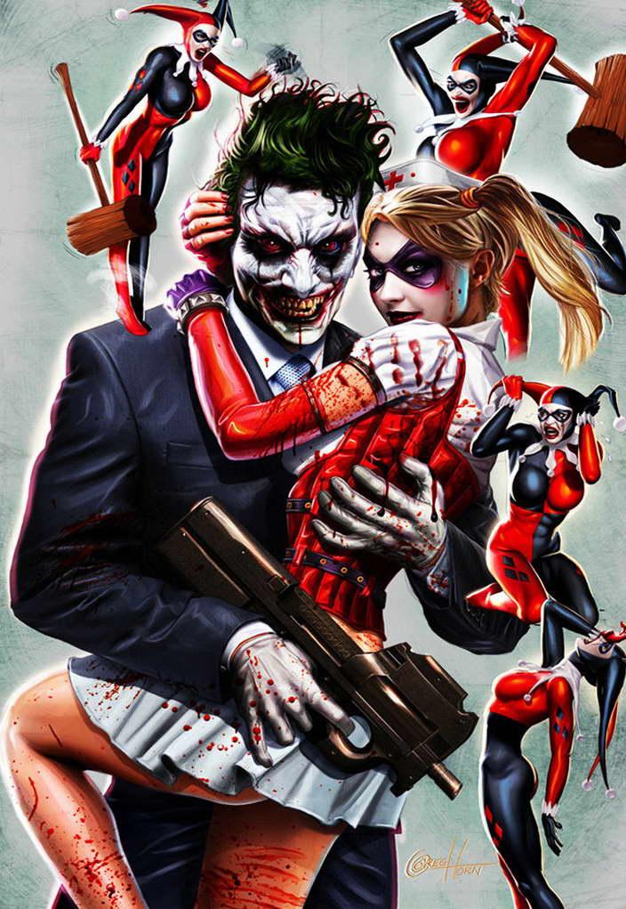 09964 Joker e Harley Quinn I SUPEREROI FUMETTO parete Stampa Poster UK