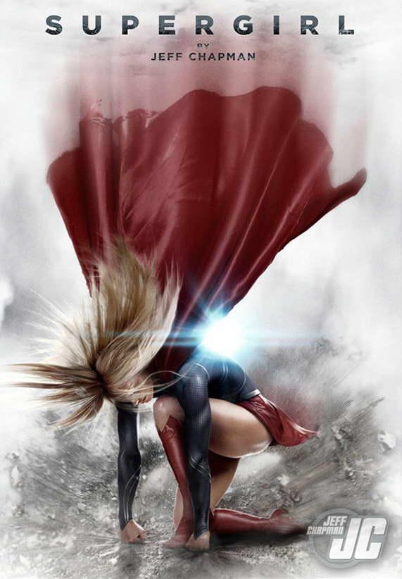 10309 Supergirl TV Series Art Superheroes Wall Print POSTER US