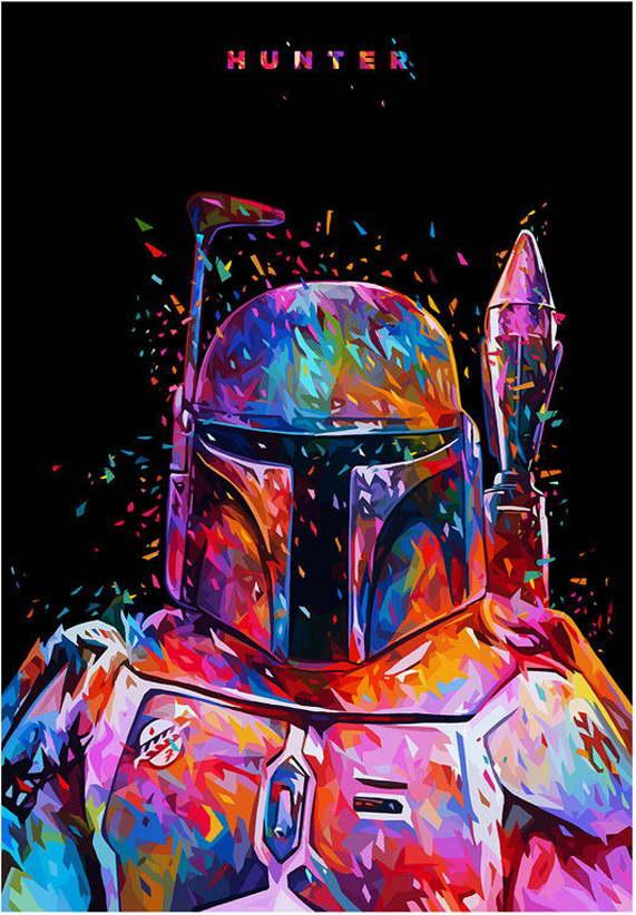 10500 Star Wars 7 Force Awakens Movie Bounty Hunter Wall Print POSTER AU