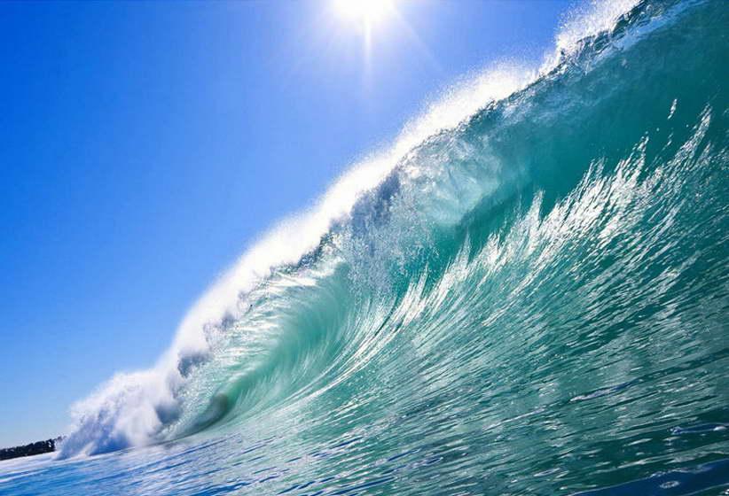 10896 Tropical Sea Big Ocean Wave Nature Seascape Wall Print POSTER AU